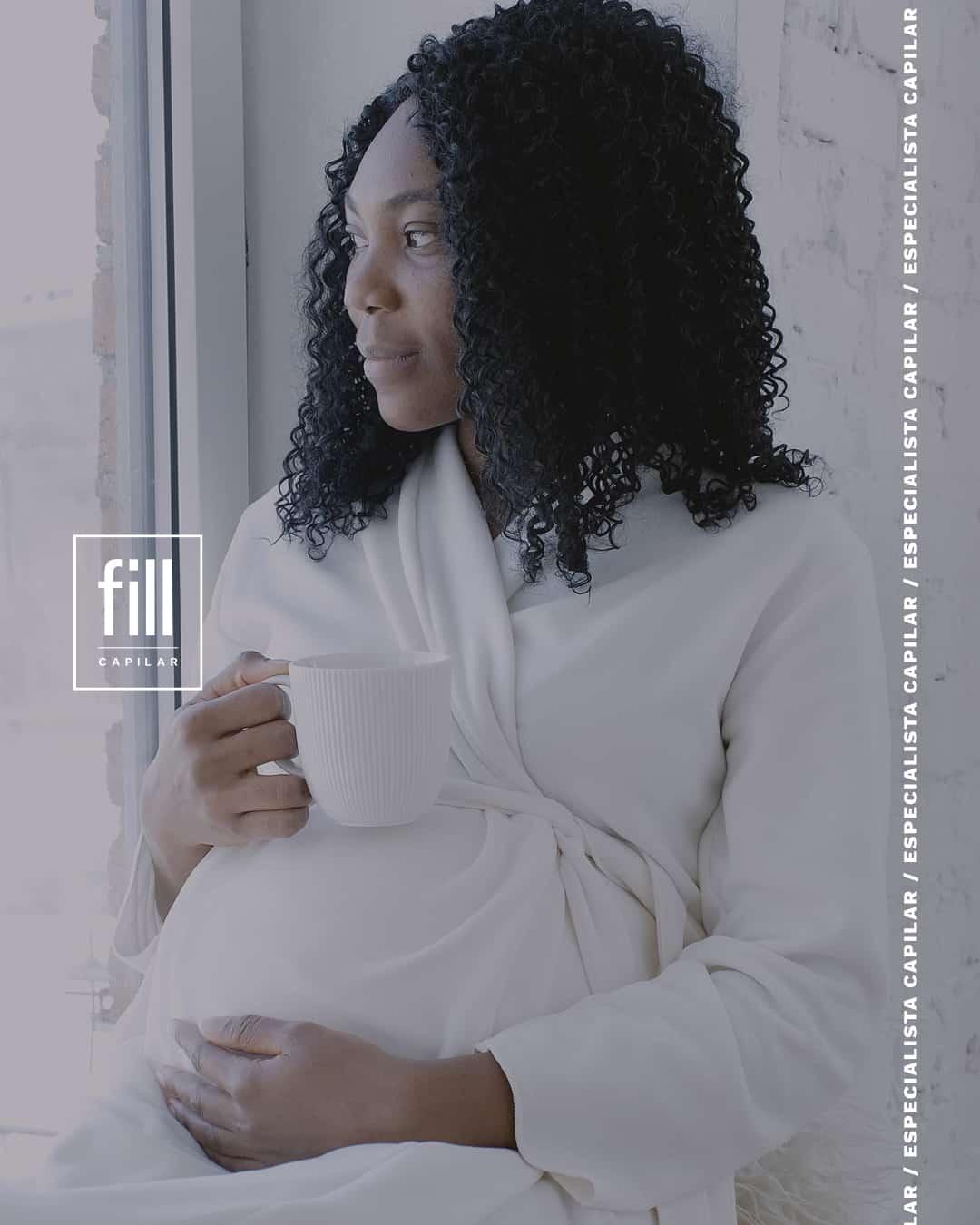 gravidez e a queda dos fios